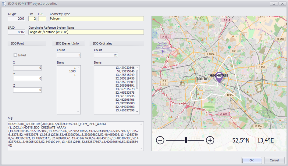 Oracle spatial data map viewer