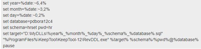 Oracle initialization script