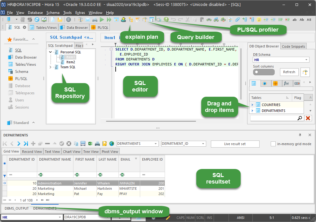Oracle SQL Scratchpad